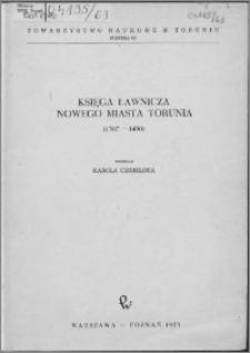 Księga ławnicza nowego miasta Torunia (1387-1450)