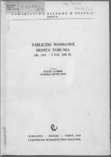 Tabliczki woskowe miasta Torunia ok. 1350 - I poł. XVI w.