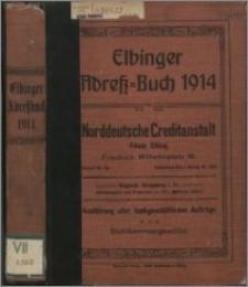 Elbinger Wohnungs-Anzeiger 1914: Adress-Buch für Stadt- und Landkreis Elbing