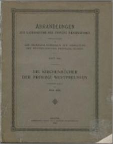Die Kirchenbücher der Provinz Westpreussen