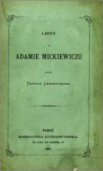 Listy o Adamie Mickiewiczu