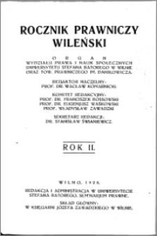 Rocznik Prawniczy Wileński 1928, R. 2
