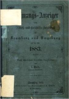 Wohnungs-Anzeiger nebst Adress- und Geschäfts-Handbuch für Bromberg und Umgebung : auf das Jahr 1883