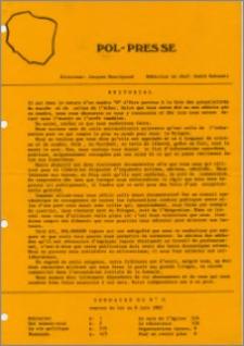 Pol-Presse 1982 no 0 (9 juin)