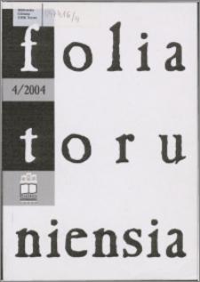 Folia Toruniensia 4 (2004)