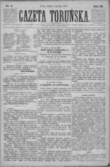 Gazeta Toruńska 1877, R. 11 nr 3