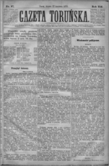 Gazeta Toruńska 1878, R. 12 nr 97