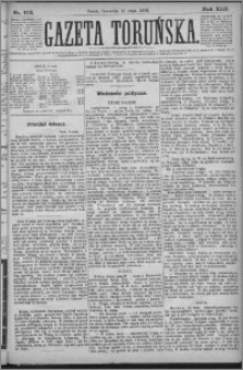 Gazeta Toruńska 1879, R. 13 nr 112