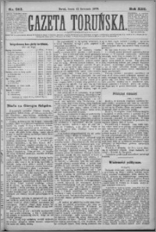 Gazeta Toruńska 1879, R. 13 nr 263
