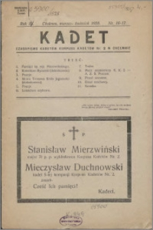 Kadet 1928, R. 3 nr 16-17