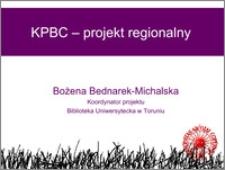 KPBC - projekt regionalny