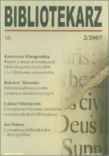 Bibliotekarz 2007, nr 2