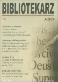 Bibliotekarz 2007, nr 3
