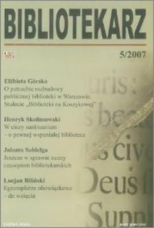 Bibliotekarz 2007, nr 5