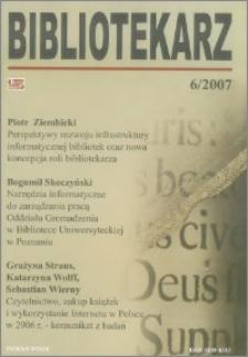 Bibliotekarz 2007, nr 6