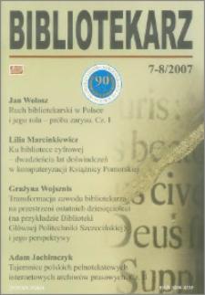Bibliotekarz 2007, nr 7-8