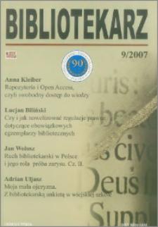 Bibliotekarz 2007, nr 9