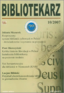 Bibliotekarz 2007, nr 10