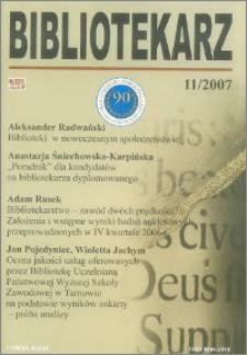 Bibliotekarz 2007, nr 11