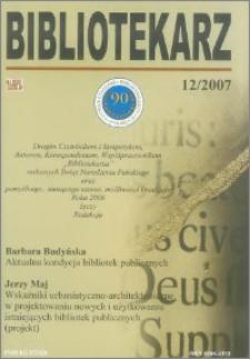 Bibliotekarz 2007, nr 12