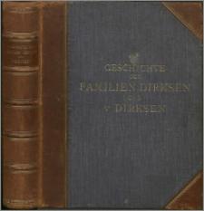Geschichte der Familie Dirksen und der Adelsfamilie von Dirksen. Bd. 1, Familiengeschichte