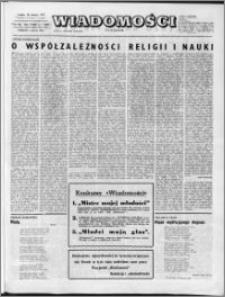 Wiadomości, R. 28 nr 1 (1397), 1973