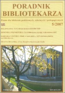 Poradnik Bibliotekarza 2007, nr 5