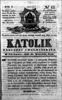 Katolik Dyecezyi Chełmińskiej 1849.09.26 nr 13