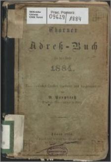 Thorner Adress-Buch für das Jahr 1884