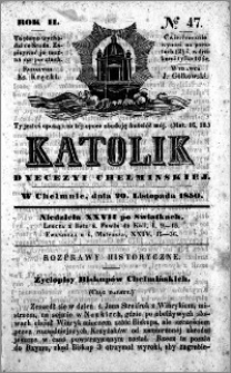Katolik Dyecezyi Chełmińskiej 1850.11.20 nr 47