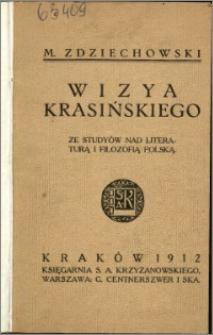 Wizja Krasińskiego : ze studiów nad literaturą i filozofią polską