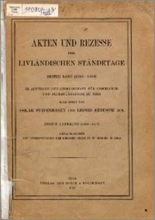 Akten und Rezesse der livländischen Ständetage. Bd. 1, (1304-1459). Lfg. 2, (1404-1417)