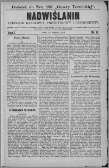 Nadwiślanin : tygodnik handlowy, przemysłowy i ekonomiczny 1873, R. 1 nr 6