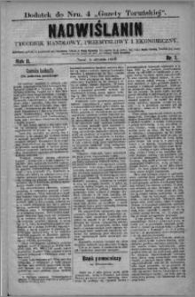 Nadwiślanin : tygodnik handlowy, przemysłowy i ekonomiczny 1874, R. 2 nr 1