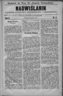 Nadwiślanin : tygodnik handlowy, przemysłowy i ekonomiczny 1874, R. 2 nr 4