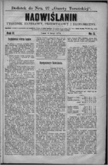 Nadwiślanin : tygodnik handlowy, przemysłowy i ekonomiczny 1874, R. 2 nr 5