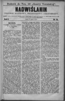 Nadwiślanin : tygodnik handlowy, przemysłowy i ekonomiczny 1874, R. 2 nr 10