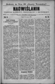 Nadwiślanin : tygodnik handlowy, przemysłowy i ekonomiczny 1874, R. 2 nr 12