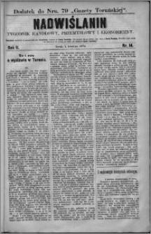 Nadwiślanin : tygodnik handlowy, przemysłowy i ekonomiczny 1874, R. 2 nr 14
