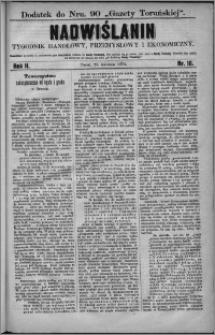 Nadwiślanin : tygodnik handlowy, przemysłowy i ekonomiczny 1874, R. 2 nr 16
