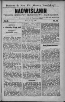 Nadwiślanin : tygodnik handlowy, przemysłowy i ekonomiczny 1874, R. 2 nr 18