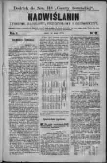 Nadwiślanin : tygodnik handlowy, przemysłowy i ekonomiczny 1874, R. 2 nr 21
