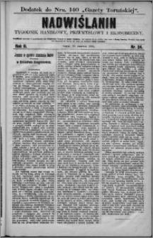 Nadwiślanin : tygodnik handlowy, przemysłowy i ekonomiczny 1874, R. 2 nr 24