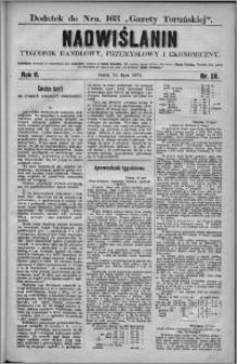 Nadwiślanin : tygodnik handlowy, przemysłowy i ekonomiczny 1874, R. 2 nr 28