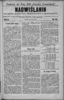 Nadwiślanin : tygodnik handlowy, przemysłowy i ekonomiczny 1874, R. 2 nr 29