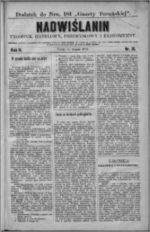 Nadwiślanin : tygodnik handlowy, przemysłowy i ekonomiczny 1874, R. 2 nr 31