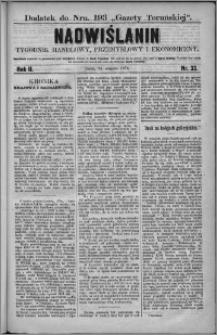 Nadwiślanin : tygodnik handlowy, przemysłowy i ekonomiczny 1874, R. 2 nr 33