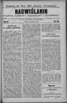 Nadwiślanin : tygodnik handlowy, przemysłowy i ekonomiczny 1874, R. 2 nr 34