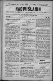 Nadwiślanin : tygodnik handlowy, przemysłowy i ekonomiczny 1874, R. 2 nr 36