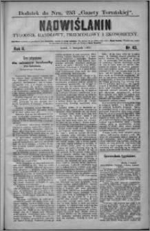Nadwiślanin : tygodnik handlowy, przemysłowy i ekonomiczny 1874, R. 2 nr 43